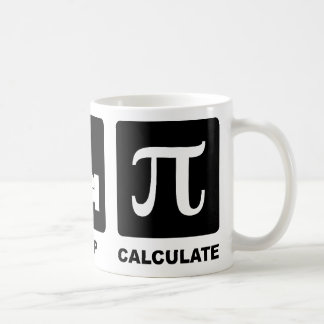 Eat Sleep Calculate Basic White Mug