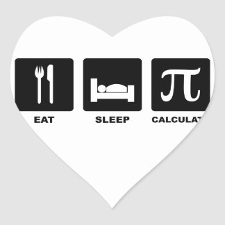 Eat Sleep Calculate Heart Sticker