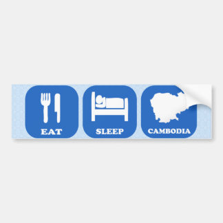 Eat Sleep Cambodia Bumper Sticker