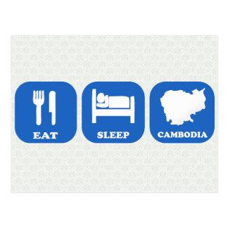 Eat Sleep Cambodia Postcard