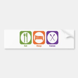 Eat Sleep Canoe Bumper Sticker