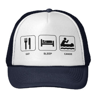 Eat Sleep Canoe Cap