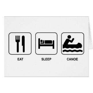 Eat Sleep Canoe Greeting Cards