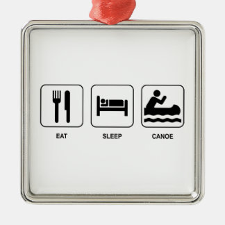 Eat Sleep Canoe Christmas Ornament