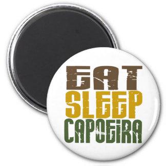 Eat Sleep Capoeira 1 6 Cm Round Magnet