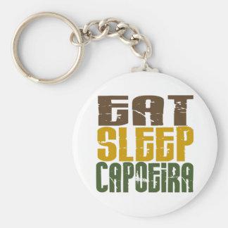 Eat Sleep Capoeira 1 Basic Round Button Key Ring