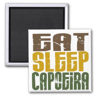 Eat Sleep Capoeira 1 Square Magnet