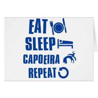 Eat sleep Capoeira Card