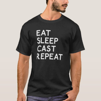 Eat Sleep Cast Repeat Fishing T-Shirt