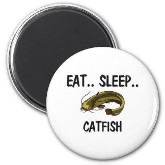 Eat Sleep CATFISH Refrigerator Magnet