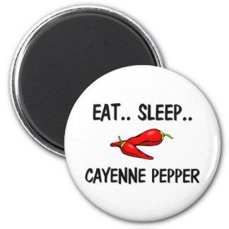 Eat Sleep CAYENNE PEPPER 6 Cm Round Magnet