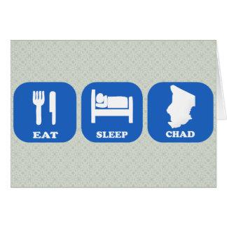 Eat Sleep Chad Greeting Cards