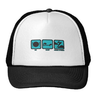 Eat Sleep Chase Storms Trucker Hats