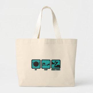 Eat Sleep Chase Storms Jumbo Tote Bag