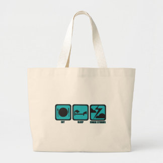 Eat Sleep Chase Storms Large Tote Bag