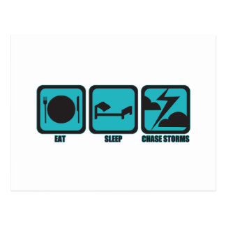 Eat Sleep Chase Storms Postcard