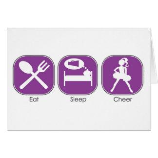 Eat Sleep Cheer Card