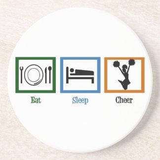 Eat Sleep Cheer Coaster