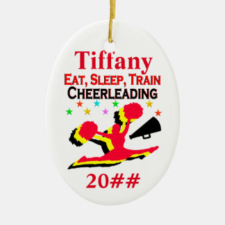 EAT, SLEEP, CHEER PERSONALIZED AND DATED ORNAMENT