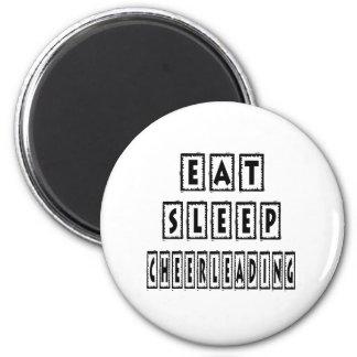 Eat Sleep Cheerleading 6 Cm Round Magnet