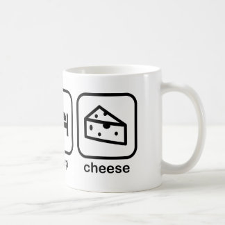 Eat Sleep Cheese Coffee Mug
