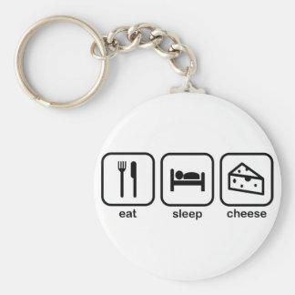 Eat Sleep Cheese Keychain