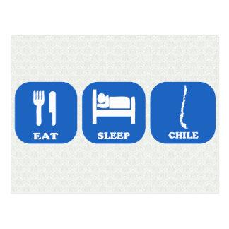 Eat Sleep Chile Postcard