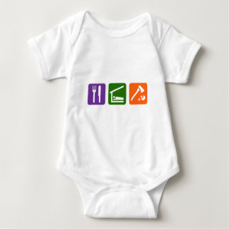 Eat Sleep Chopping Wood Baby Bodysuit
