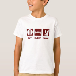 Eat Sleep Climb T-shirt and gift design