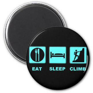 Eat Sleep Climb T-shirt and gift design 6 Cm Round Magnet