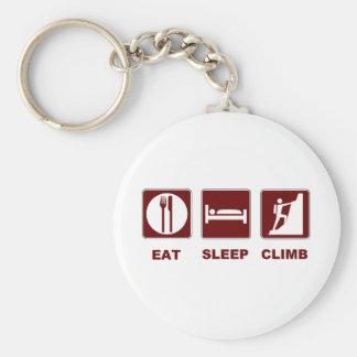 Eat Sleep Climb T-shirt and gift design Basic Round Button Key Ring
