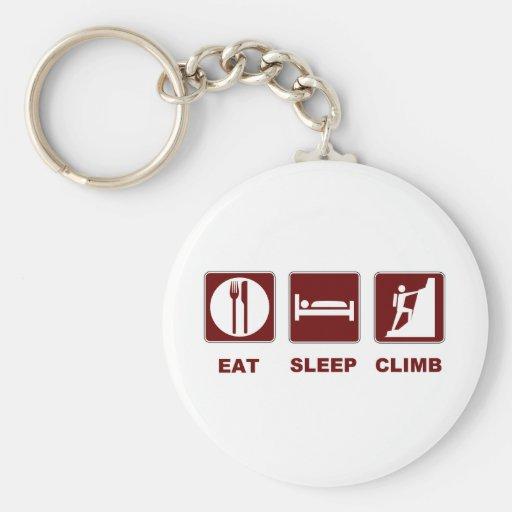 Eat Sleep Climb T-shirt and gift design Keychains