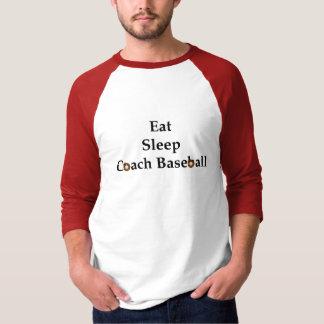 Eat, Sleep, Coach Baseball 3/4 Sleeve T-shirt