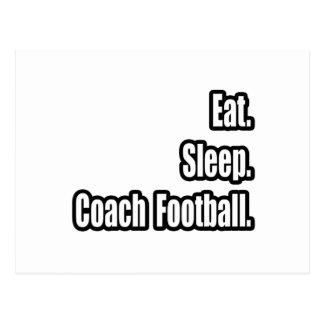 Eat Sleep Coach Football Postcards