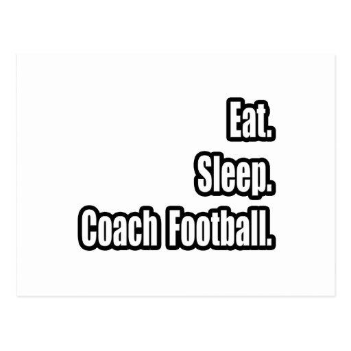 Eat. Sleep. Coach Football. Postcards