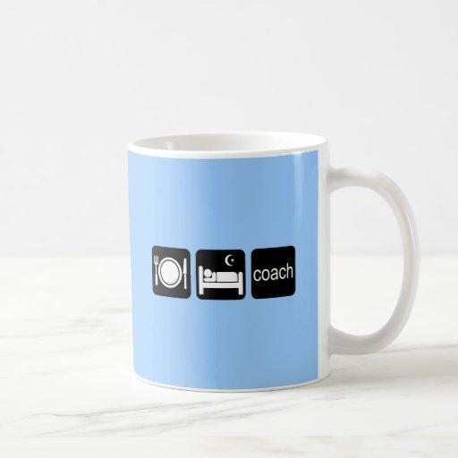 eat sleep coach mugs