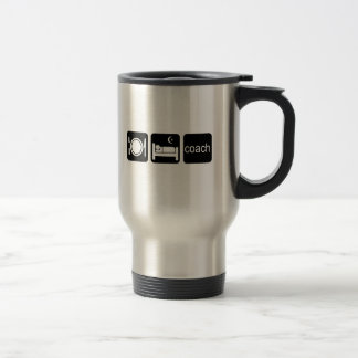 eat sleep coach stainless steel travel mug
