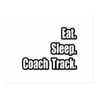 Eat. Sleep. Coach Track. Post Cards