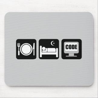 eat sleep code mouse mat