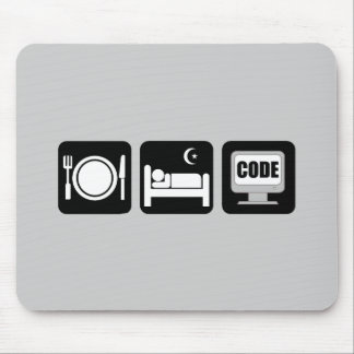 eat sleep code mouse pad