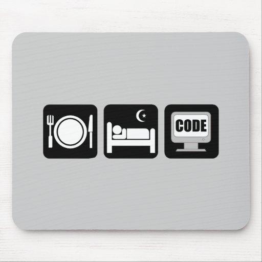 eat sleep code mousepads