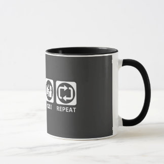 eat sleep code mug