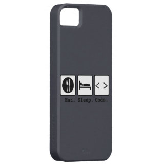 eat sleep code Nerd Wear iPhone 5 Covers
