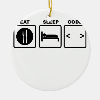 eat sleep code Nerd Wear T-Shirts.png Christmas Ornament