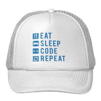 Eat Sleep Code Repeat Trucker Cap