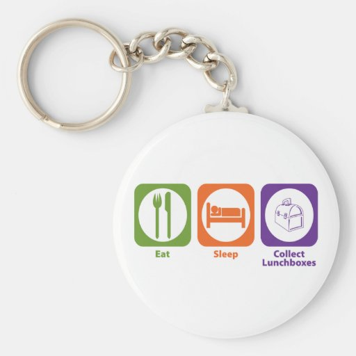 Eat Sleep Collect Lunchboxes Key Chain