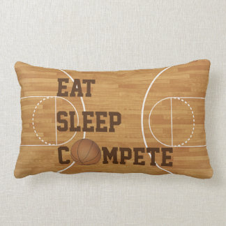 Eat Sleep Compete Basketball Court Pillow Cushion