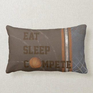 Eat Sleep Compete Basketball Pillow