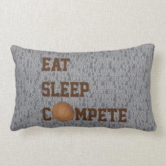 Eat Sleep Compete Basketball Words Pillow Throw Cushions
