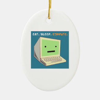 Eat Sleep Compute Christmas Ornament